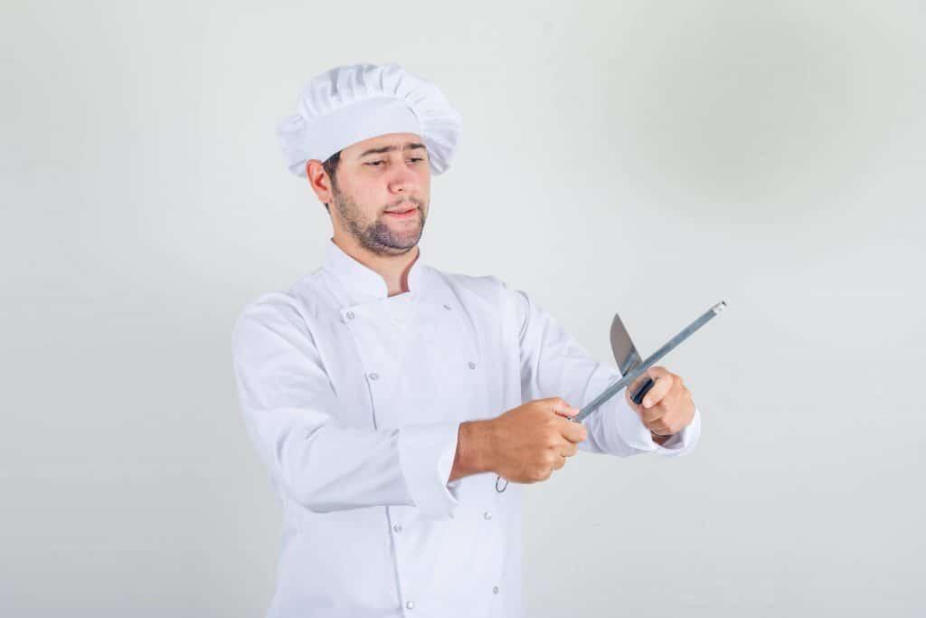 aiguisage d'un couteau